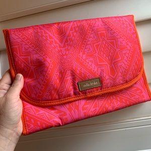Stella & Dot Hot Pink/Orange Hang On Bag (Retired)